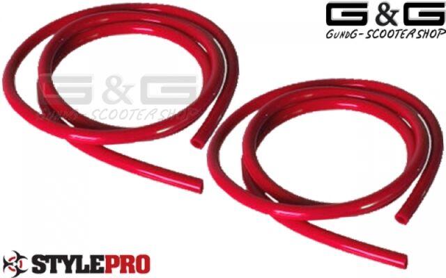 tuyaux de carburant essence d'huile rouge 2x1m Longueur 5mm diamètre intérieur