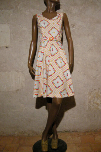 Robe Vtg Kleid 1960's Anni Abito 1960 36 Jersey 60 Dress 60er Vintage Chic 5IqZ4