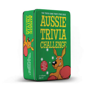 High Quality Aussie Trivia Game Challenge in Tin Suitable for Ages 12 and Up