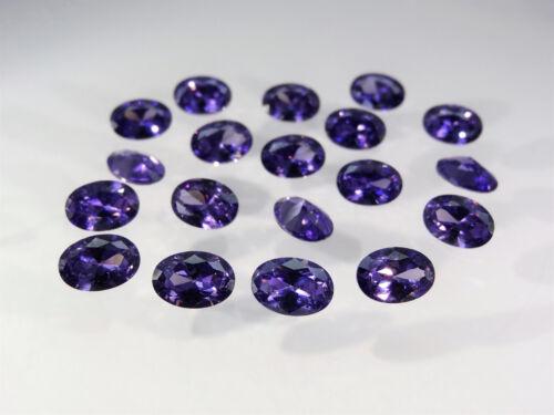 Amethyst Oval Cut Shape SIZE CHOICE Loose Stones Cubic Zirconia Gemstones