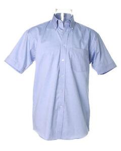 Kustom-Kit-KK109-para-Hombre-Ninos-Casual-Manga-Corta-Camiseta-Oficina-de-Trabajo-Luz-Azul-Nuevo