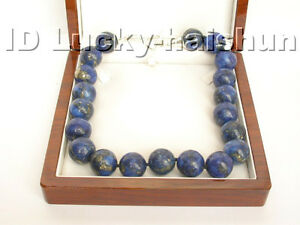 Genuine-19-034-AAA-20MM-NATURE-ROUND-LAPIS-LAZULI-NECKLACE-925ss-j4310