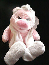 """18"""" RBI Spa Friends Pink Pig towel slippers Shower Plush Stuffed Animal Toy-doll"""