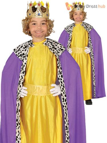 Boys Wise Man Costume Childs Christmas King Nativity Fancy Dress Kids Wiseman