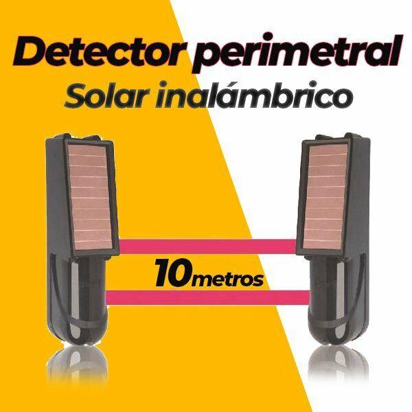 Alarma perimetral 10M foto electrica Placa Solar Baterias SIB010 Detector barrer
