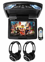 Rockville Rvd12hd-bk 12 Black Flip Down Car Monitor Dvd/usb Player+headphones on sale