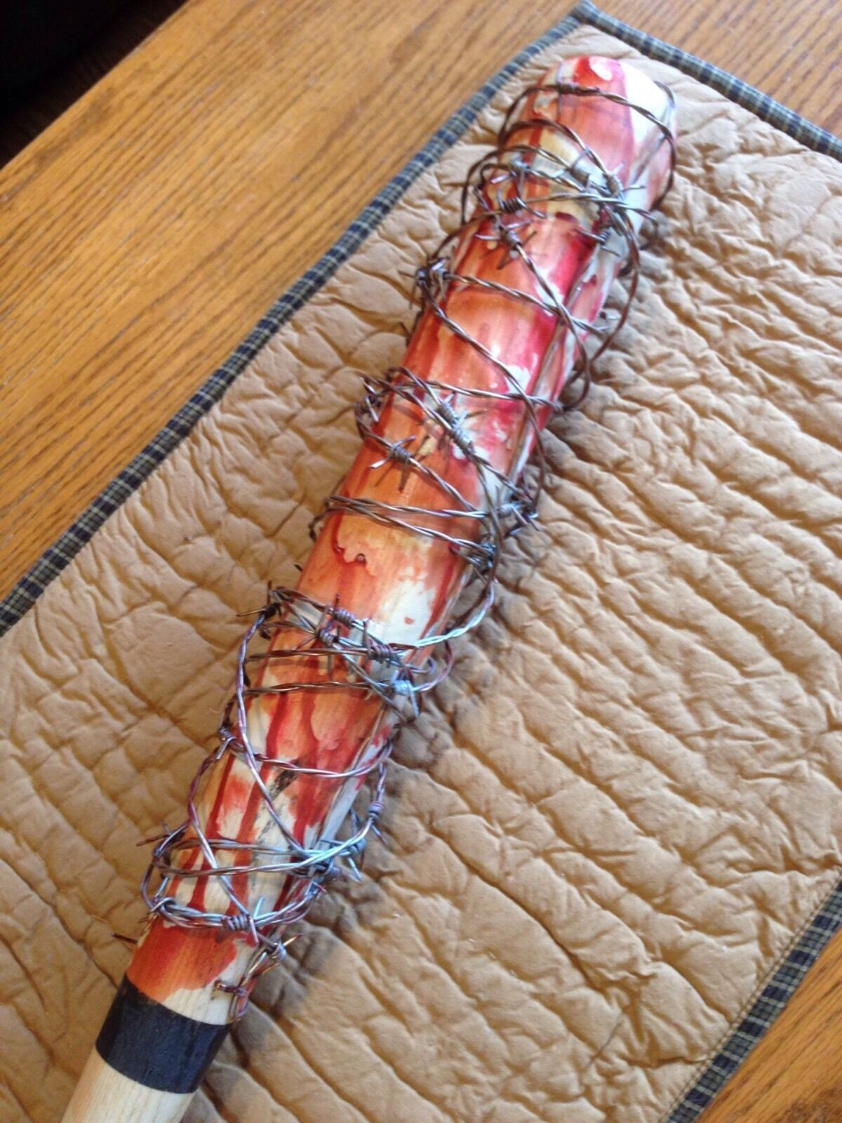 TWD The Walking Walking Walking Dead Negan Lucille Replica Barbed Wire Baseball Bat Prop a0bd3b