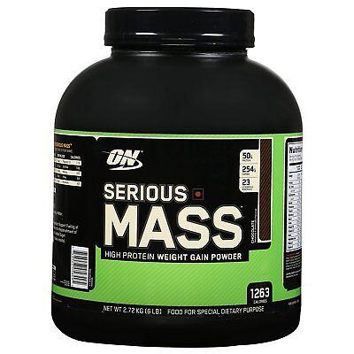 Optimum Serious Mass 6 lb Mass Gainer Protein CHOOSE FLAVOR