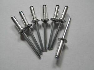 Dicht Blindniete CUP DIN 7337 ALU//Stahl Flachkopf 4 x 12,5 RAL-Pulverbeschichtet