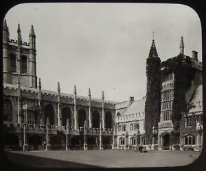 Glass Magic Lantern Slide MAGDALEN COLLEGE CLOISTERS OXFORD C1890 PHOTO - Cornwall, United Kingdom - Glass Magic Lantern Slide MAGDALEN COLLEGE CLOISTERS OXFORD C1890 PHOTO - Cornwall, United Kingdom