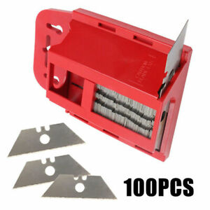 Trapezklingen-100-Stueck-Cutterklingen-Klingen-Ersatzklingen-Trapezform