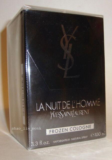 YVES SAINT LAURENT LA NUIT DE L'HOMME FROZEN COLOGNE EDT 100 ML /3.3 OZ  YSL NIB