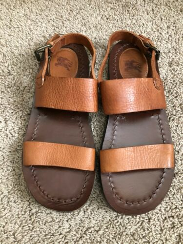 Burberry Men's Tan Leather Sandals. Size 9