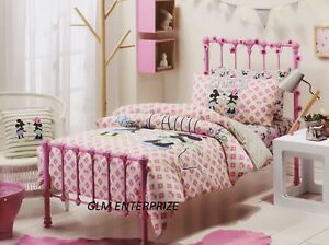 SINGLE-BED-DISNEY-MINNIE-amp-MICKEY-MOUSE-GIRLS-QUILT-DOONA-COVER-SET-amp-PILLOWCASE