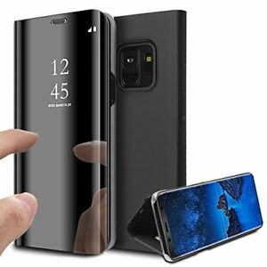Coque Etui Housse pour Samsung Galaxy S9 Case Clear View À Rabat Cover Flip...