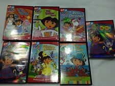 Lot of 7 Nickelodeon - Dora The Explorer and Boots DVDs Movies Collections Set