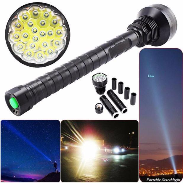 45000LM XM-L LED Torch 21x T6 Super Flashlight Zoom Torch LED Lamp Light 26650 18650 4f7333