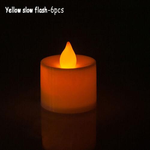 Hochzeit 1//6//12 x Flammenlose LED Kerze Flackern Teelicht Batterie Valentine