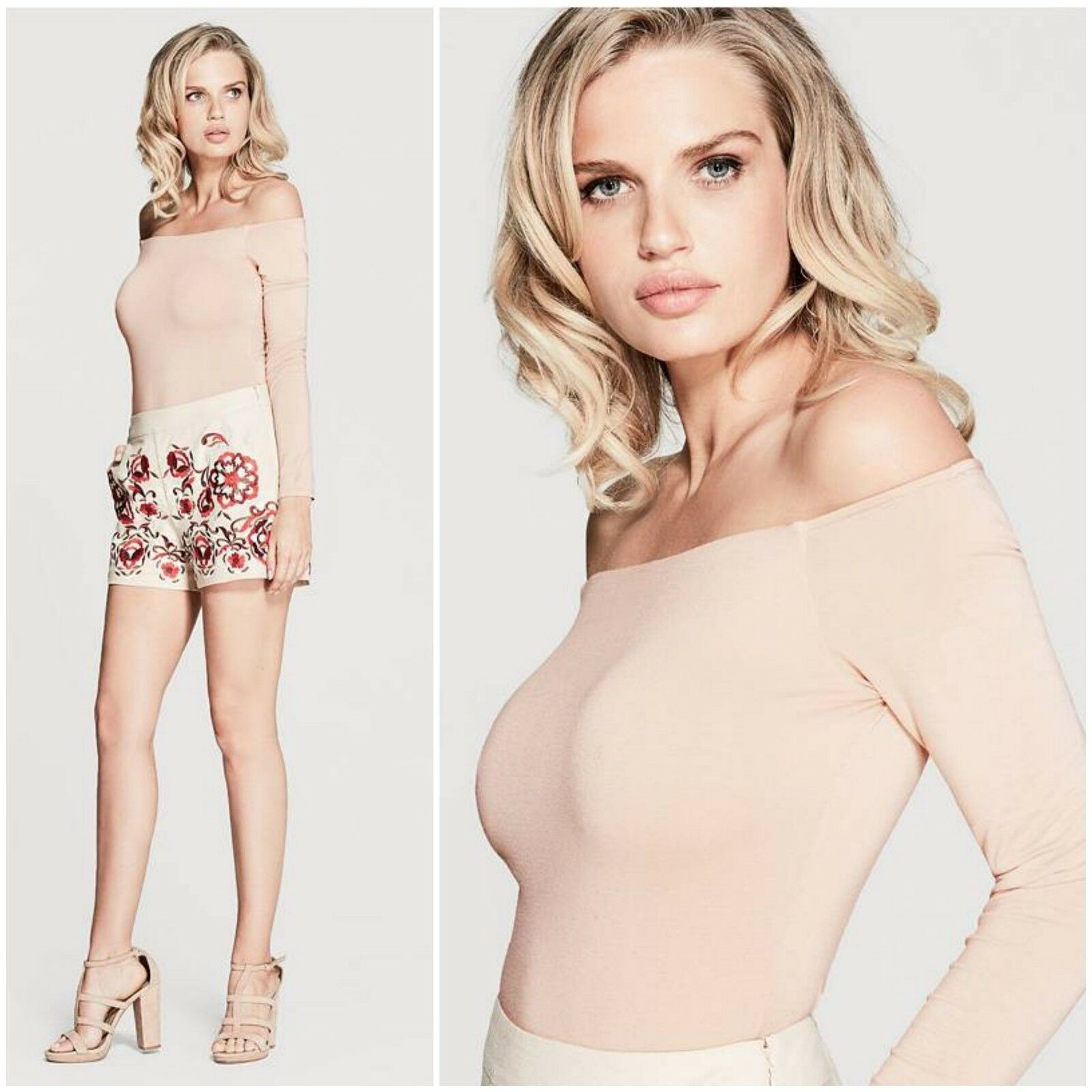 GUESS BY MARCIANO TONI OFF-THE-SHOULDER BODYSUIT