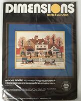 Charles Wysocki Dimensions Antique Shoppes Counted Cross Stitch Kit 1984 Sealed