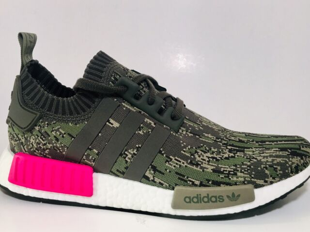 bc53bad8bb23d Adidas NMD R1 Primeknit Shoes Mens Size 11 Camo Pink Camouflage Orig Price   170