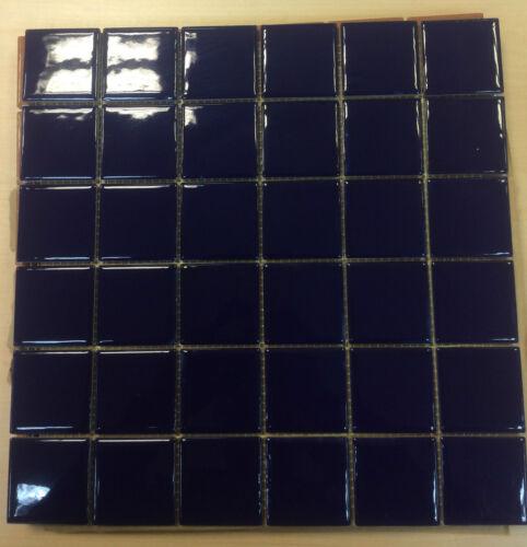 Royal Blue Square Wall /& Floor Mosaic Tile