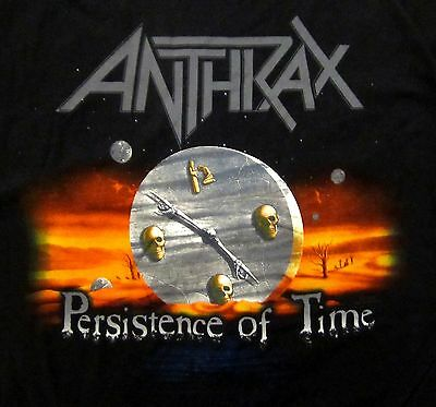 ANTHRAX cd cvr PERSISTENCE OF TIME Official SHIRT LAST SMALL New OOP