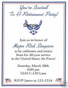 20 custom retirement invitations military american air ebay