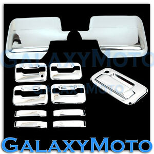 09-14 Ford F150 Chrome Mirror+4 Door Handle+no keypad no KH+Tailgate+GAS Cover