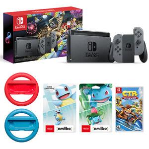 Nintendo-Switch-w-Gray-Joy-Con-Mario-Kart-8-Deluxe-Bundle-Crash-Team-Racing