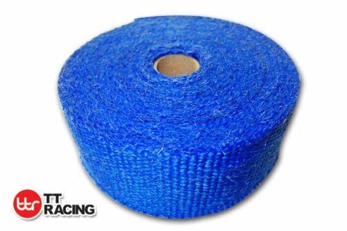 """Fiberglass Heat Exhaust Thermal Header Wrap Tape 2/"""" x 33/'F 50mm x 10M Blue"""