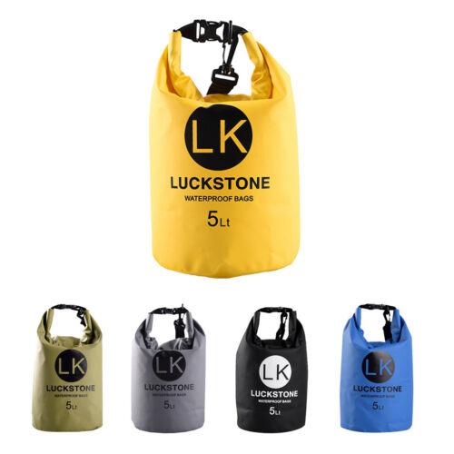 5L PVC Waterproof Dry Bag Sack for Canoe Floating Boating Kayaking Camping