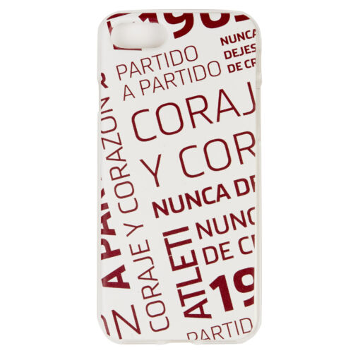 Atlético de Madrid iPhone 7 8 Courage and Heart Case Handy Schutzhülle Fußball