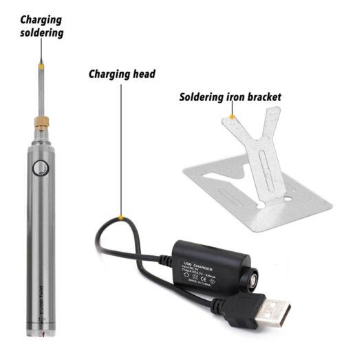 Battery Soldering Iron Wireless Charging Soldering Iron w//USB Welding Tools K7Z9