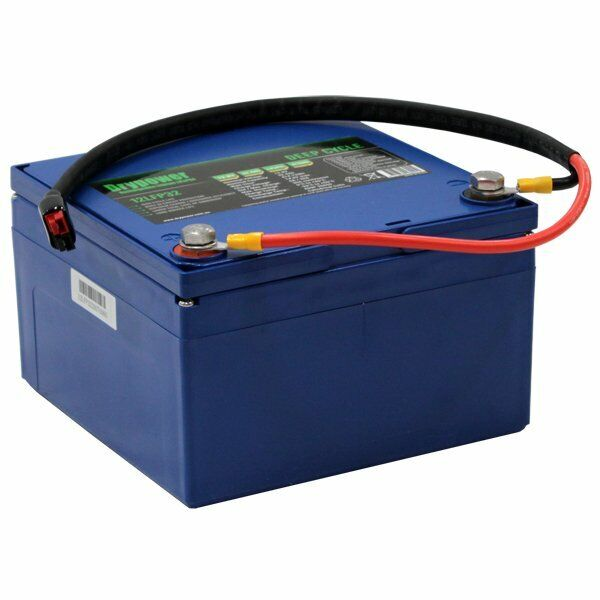 Drypower 12.8V 32.4Ah LiFePO4 Rechargeable Lithium Battery & Lead Kit