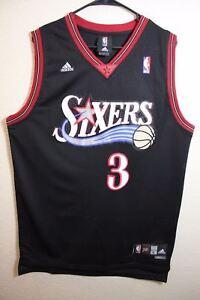d10e30ad050e Image is loading Allen-Iverson-3-Philadelphia-76ers-Jersey-Vest-Black