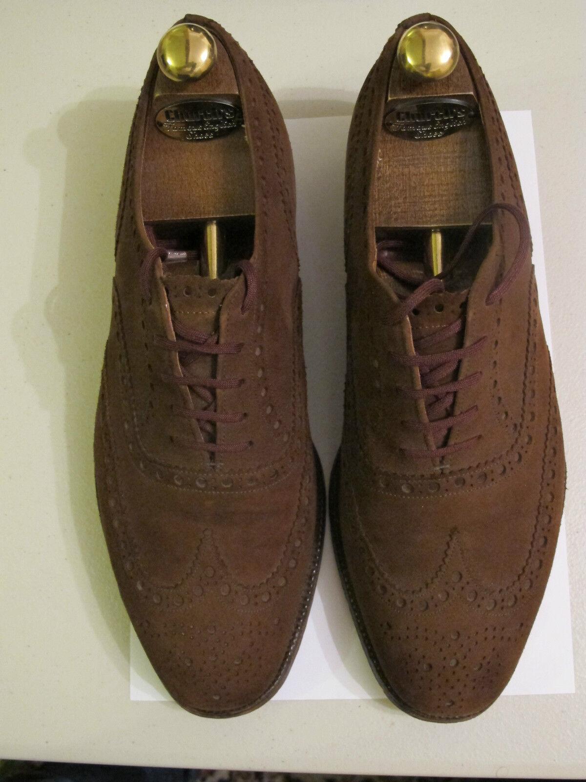 Church's zapatos. Vintage. Marrón. nuevo Buck Brogue Zapatos. + Zapato árboles