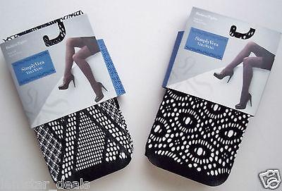 Simply Vera Wang Fashion Tights Black NWT U PICK Design & Size