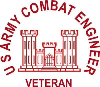 Quot U S Army Combat Engineer Veteran Quot Die Cut Vinyl Sticker