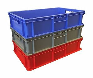 30 L Heavy Duty Industrial Plastic Stacking Euro Storage ...