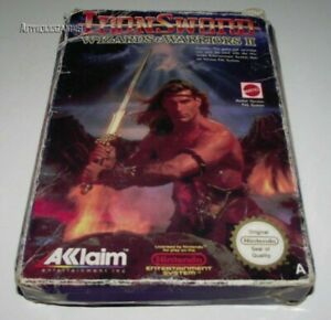 Iron-Sword-Wizards-amp-Warriors-II-Nintendo-NES-Boxed-PAL-No-Manual
