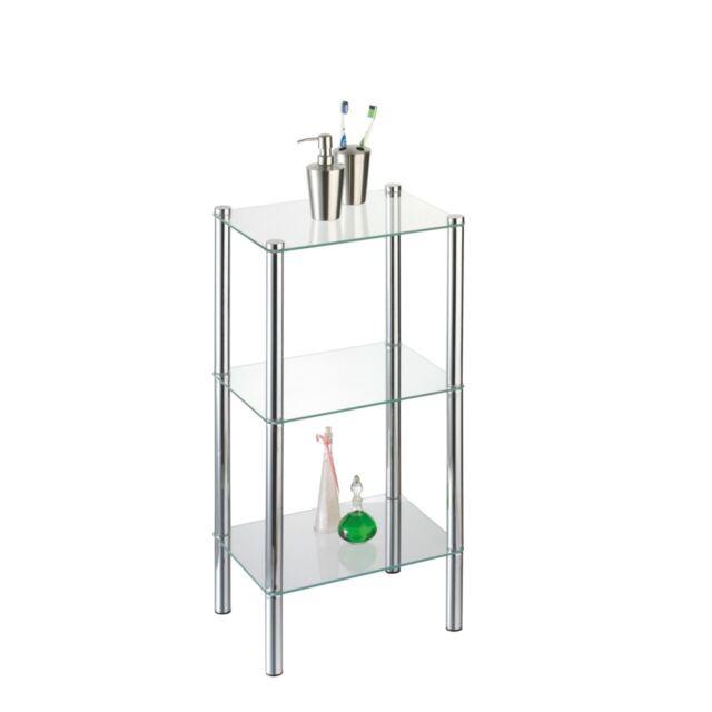 Badregal Standregal Salanio 3 Böden Glas