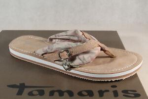 Details about Ladies Tamaris Toe Sandal Sandal Mules DuneBeige 27109 New