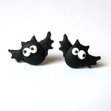 Pendientes de murciélago Divertido Fiesta De Halloween Vampiro Horror Aretes Bisutería aterrador Negro