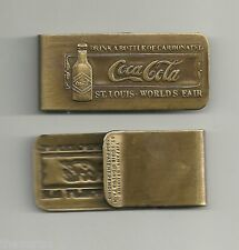 COKE COCA COLA MONEY CLIP 1904 ST. LOUIS WORLD'S FAIR