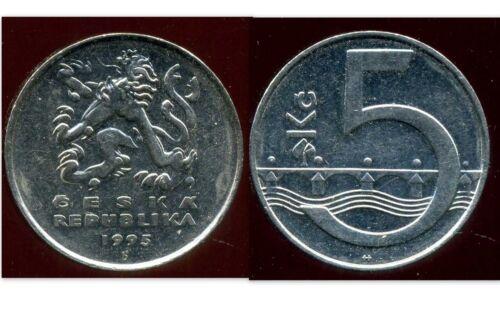 etat CZECH REPUBLIQUE  TCHECOSLOVAQUIE   5 korun 1995