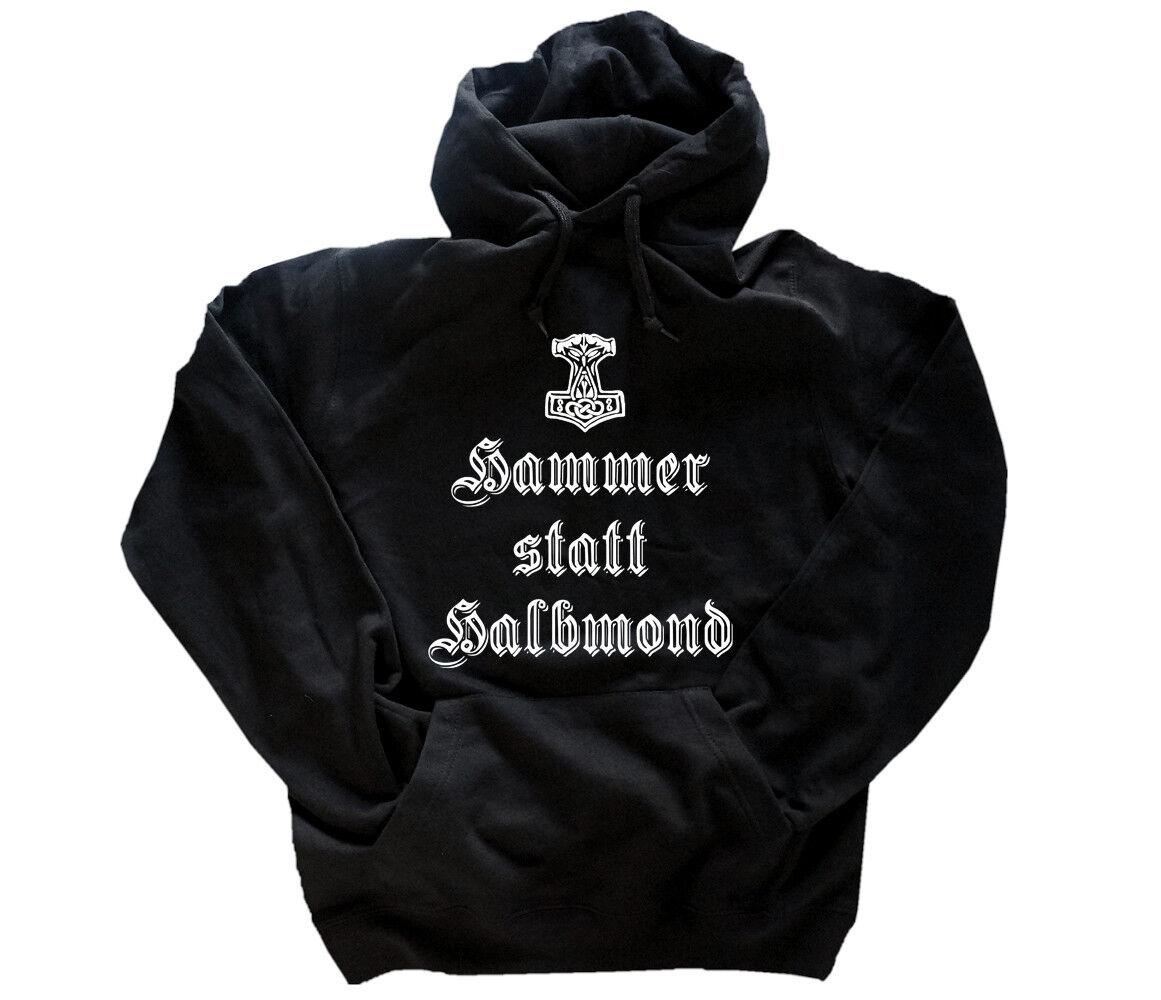 Hammer statt Halbmond Halbmond Halbmond - Germanen Wikinger Odin Thor  Kapuzen-Sweat-Shirt S - XXL | Roman  efbfba