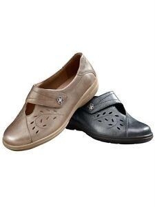 537 Leder Klettschuhe 5Weite Solidus Slipper Schuhe K Grau Gr4 OPn0wXN8kZ