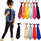 Fashion Satin Elastic Neck Tie for Wedding Prom Boys Children School Kids Ties
