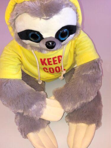 80 cm Keep cool Großes Faultier mit gelbem Pullover ca Text